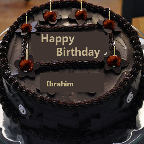 Groovy Pin By Sabahat Munazza On Ibrahim Happy Birthday Chocolate Cake Personalised Birthday Cards Bromeletsinfo