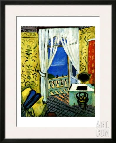 Still Life with Violin Case Framed Giclee Print by Henri Matisse at Art.com