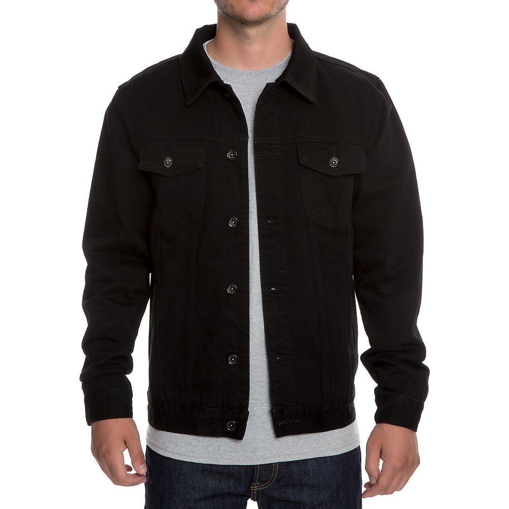 Men S Tom Denim Jacket Black Black Denim Jacket Denim Jacket Men Mens Outfits [ 1000 x 1000 Pixel ]