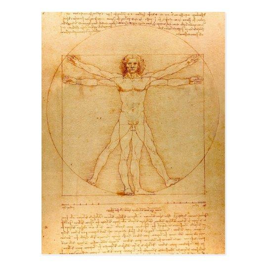Human Anatomy Vitruvian Man By Leonardo Da Vinci Postcard Zazzle Com Vitruvian Man Da Vinci Vitruvian Man Leonardo Da Vinci