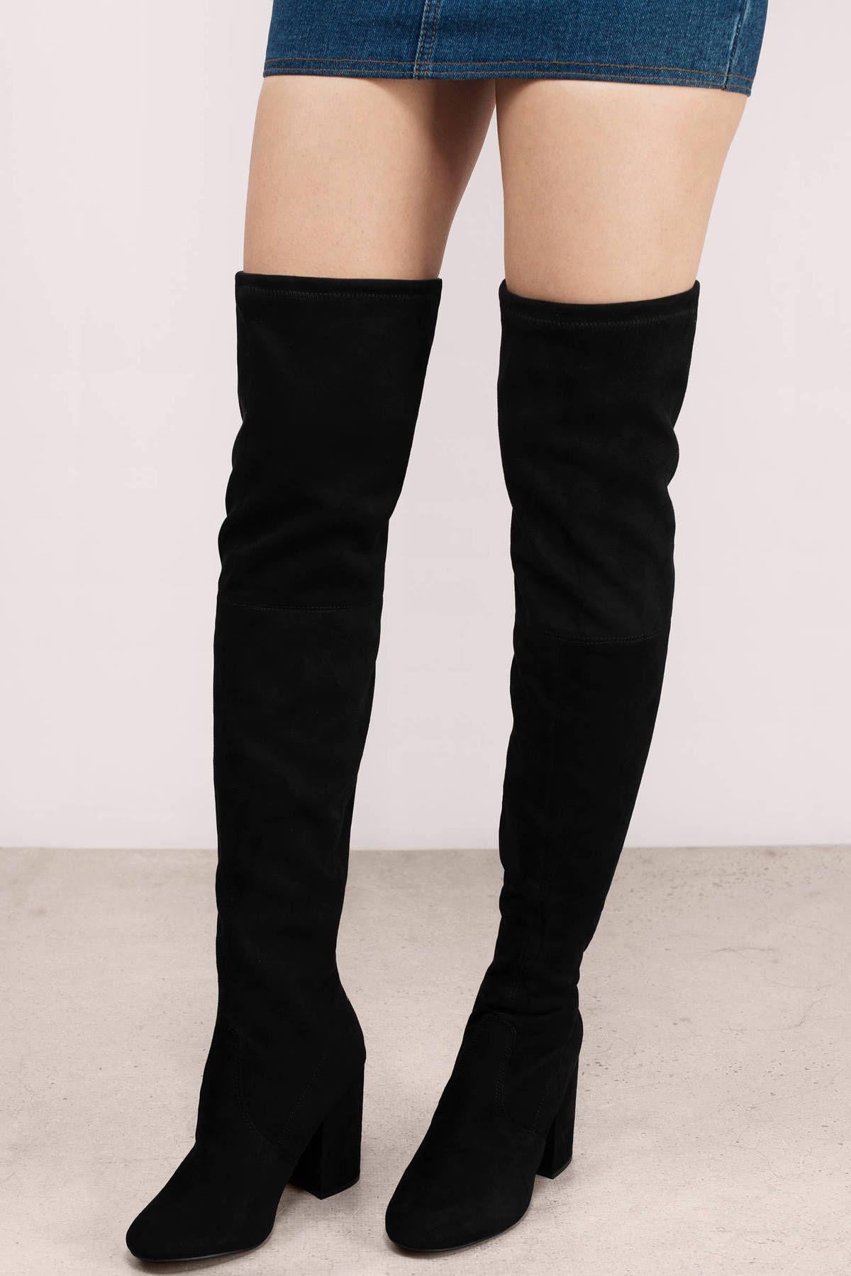 Norri Suede Knee High Boots   Suede