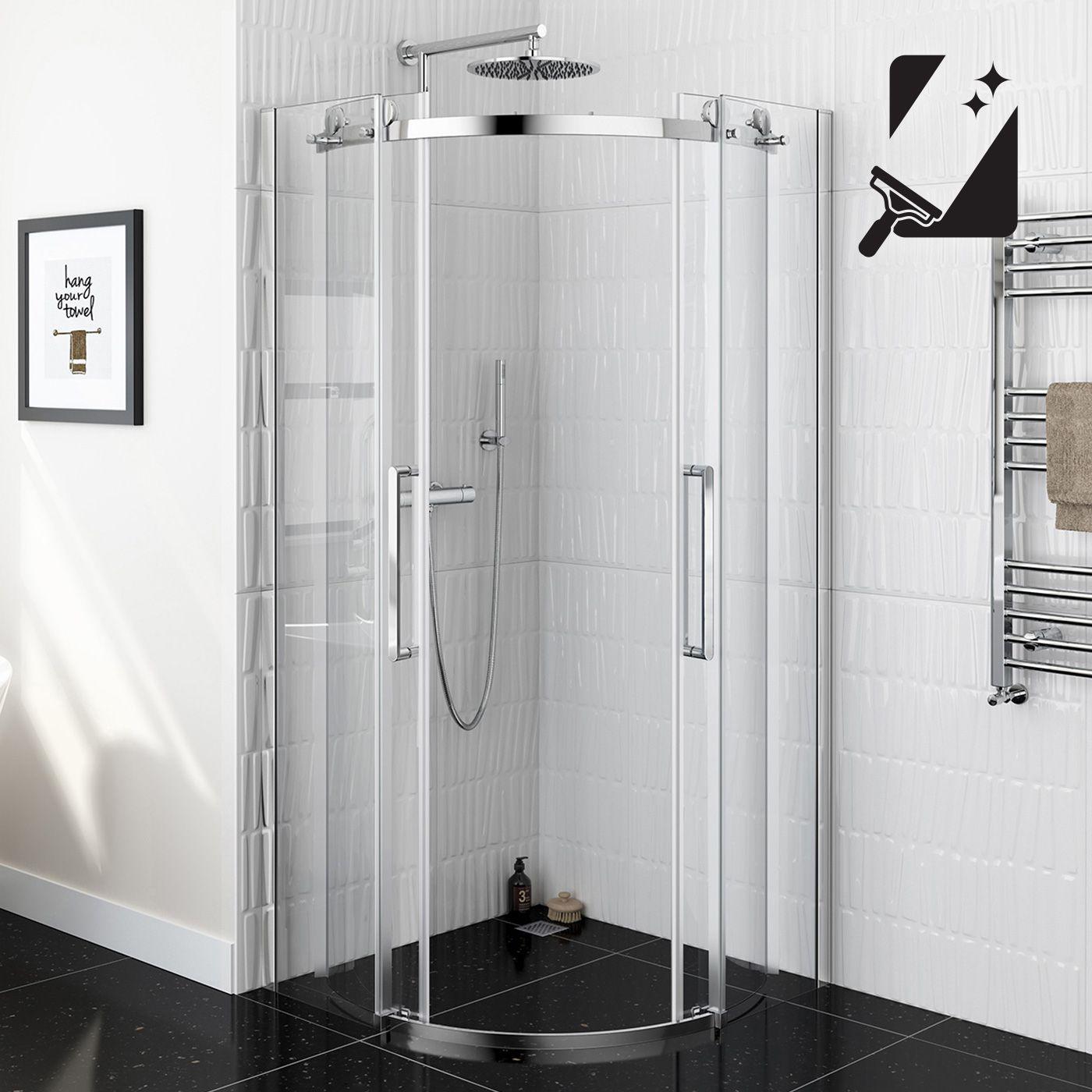 900mmx900mm Designer Frameless Easyclean Quadrant Shower Enclosure 8mm Soak Com Quadrant Shower Corner Shower Units Quadrant Shower Enclosures