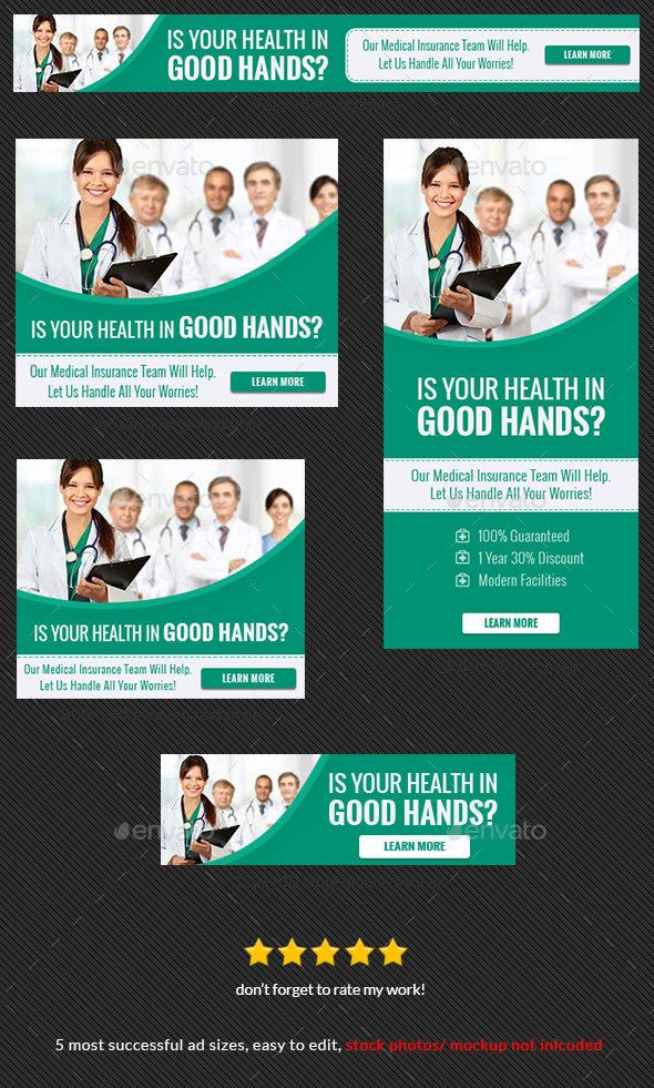 Green Health Medical Web Banner Ad — PSD ad