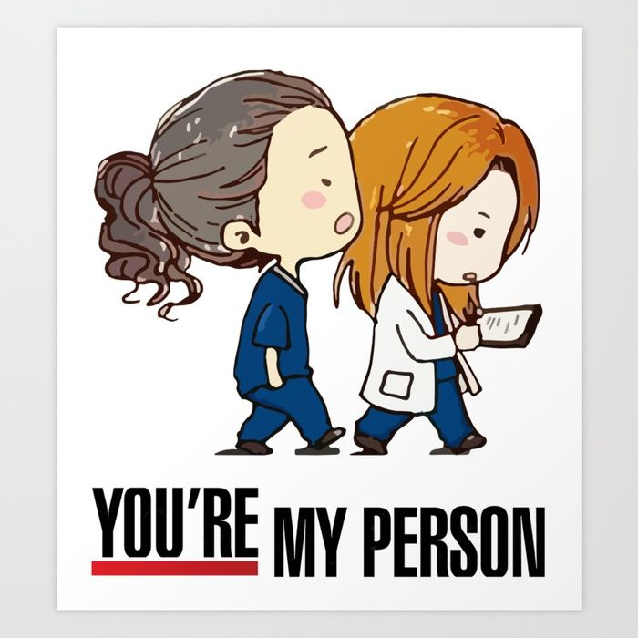 Buy Grey\'s Anatomy - You\'re My Person! Art Print by aquaduelist ...