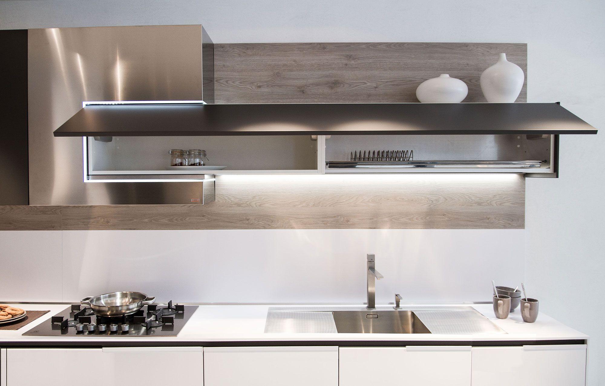 Modern kitchen idea Snaidero Orange Evolution. Built in LED provides ...