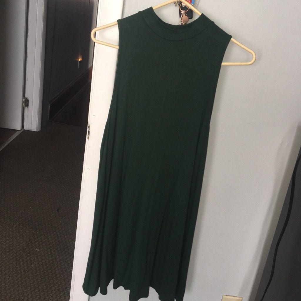 Deep Green High Neck Dress!
