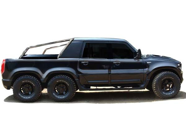 After The Launch Of Mercedes Amg 6x6 Having Three Axles On An Offroader Is The New Cool Inspired By This R Custom Pickup Trucks Wide Body Kits Mahindra Jeep