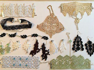 Orecchini in pizzo Macramè perline cristallo strass argento ipoallergenico in Orologi e gioielli, Bigiotteria, Bracciali | eBay