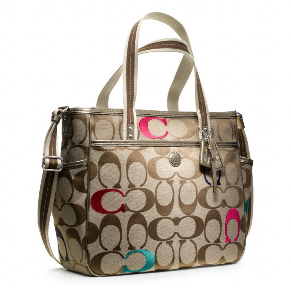 coach sale outlet 3gq5  Coach :: Baby Bag Embroidered Signature c Tote Neutral if you don't want