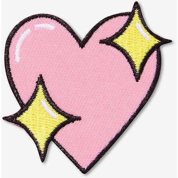 Big Bud Press Sparkle Heart Patch ($12) ❤ liked on Polyvore ...