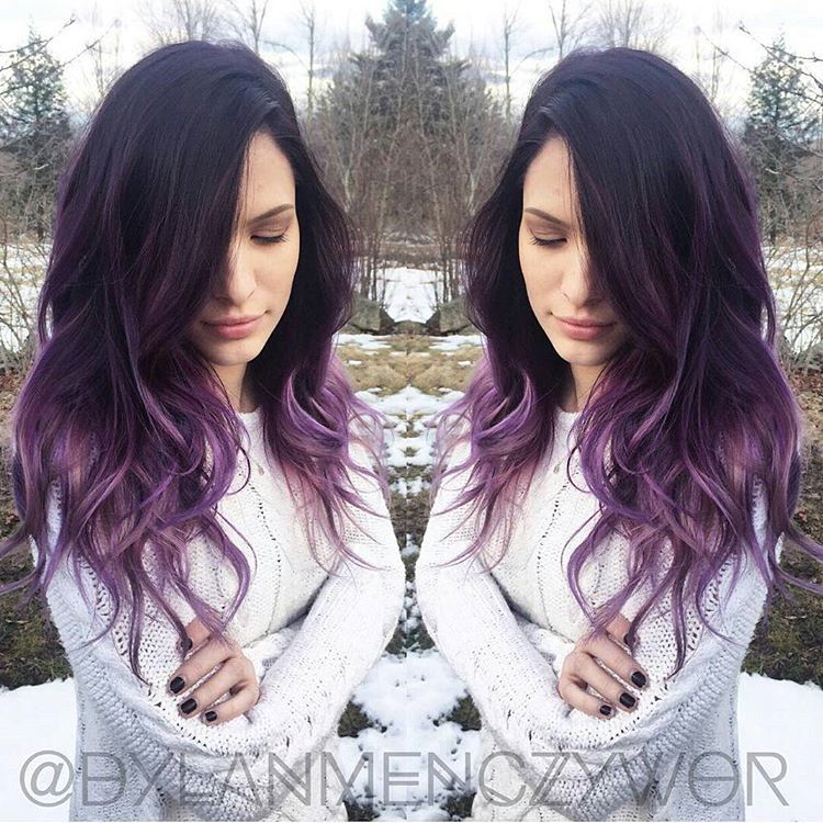 """""""@Regrann from @dylanmenczywor -  Beautiful lilac ombre on @cassidonia  she always rocks the best colors  #lilachair #purplehair #purpleombre…"""""""