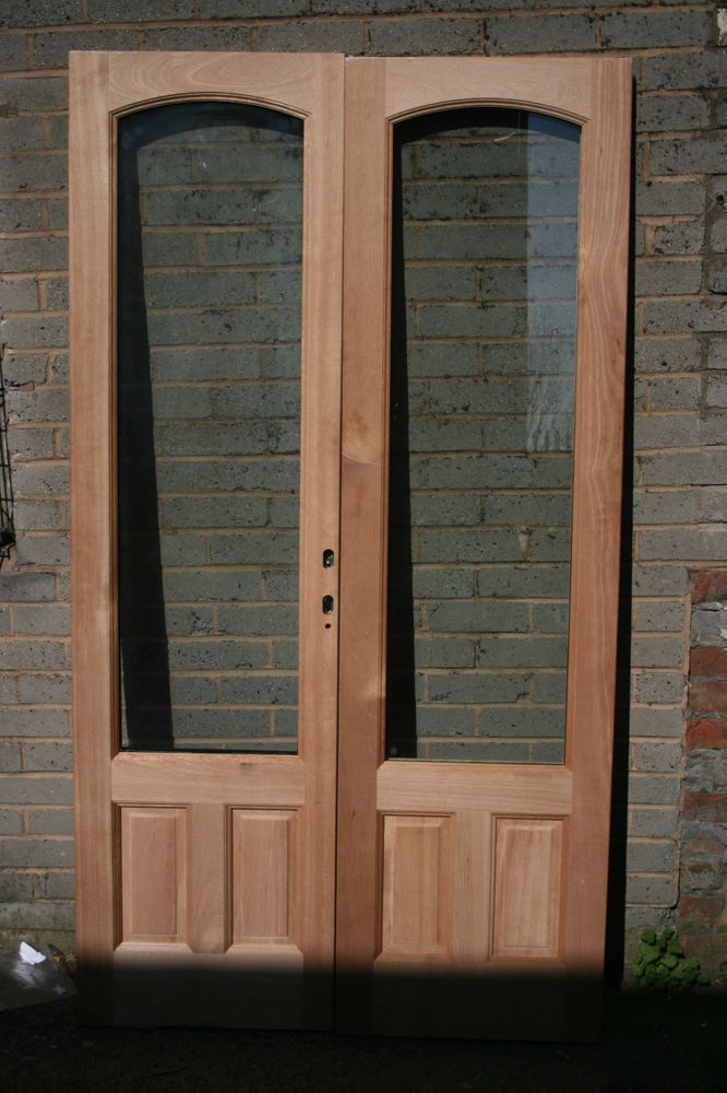 4ft Approx External French Patio Doors Solid Hardwood Double