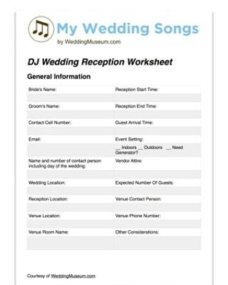 Wedding Reception Worksheet  Know What and When #weddingworksheet #reception http://ift.tt/2fgQwwK