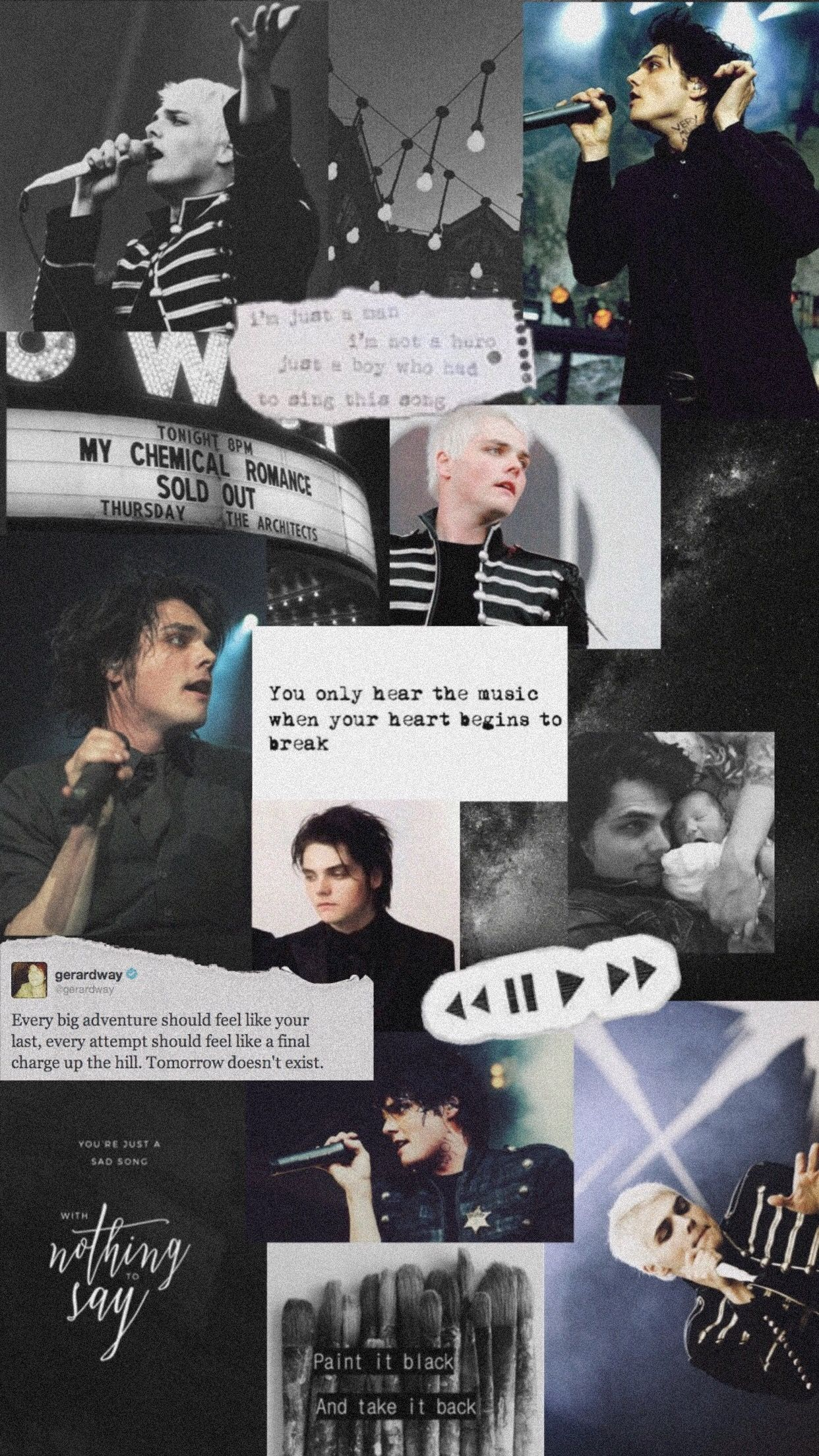 My Chemical Romance Gerard Way Aesthetic My Chemical Romance Wallpaper Emo Wallpaper My Chemical Romance