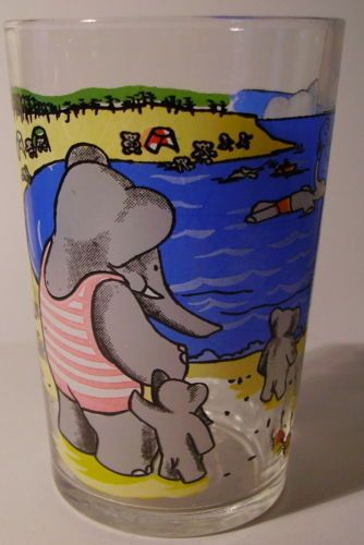 Verre À Moutarde Glass Babar Brunhoff 1970 LA Famille AU Bord DE LA MER VM141 | eBay