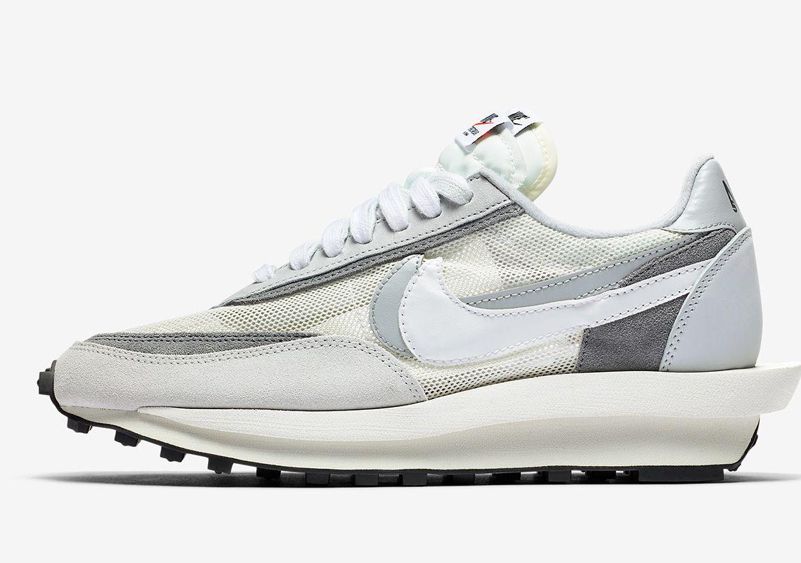 Sacai Nike Ldwaffle White Grey Bv0073 100 Photos Nike Nike