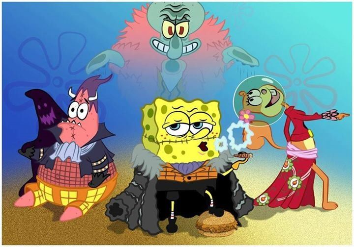Spongebob and One Piece crossover!