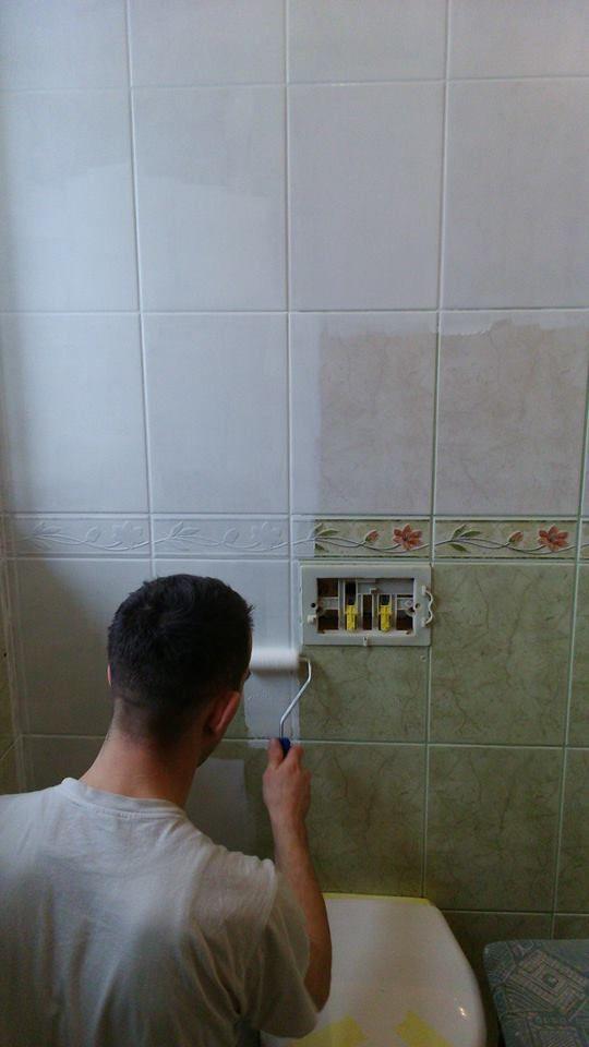 Pin De Eng Fvillela Em Escadas Pintura De Azulejos Do Banheiro Banheiros Pintados Decoracao Banheiro