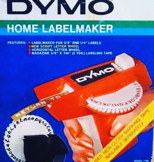 Remember these ? Always stabbed me under my nails when trying to peel the sticker #dymo