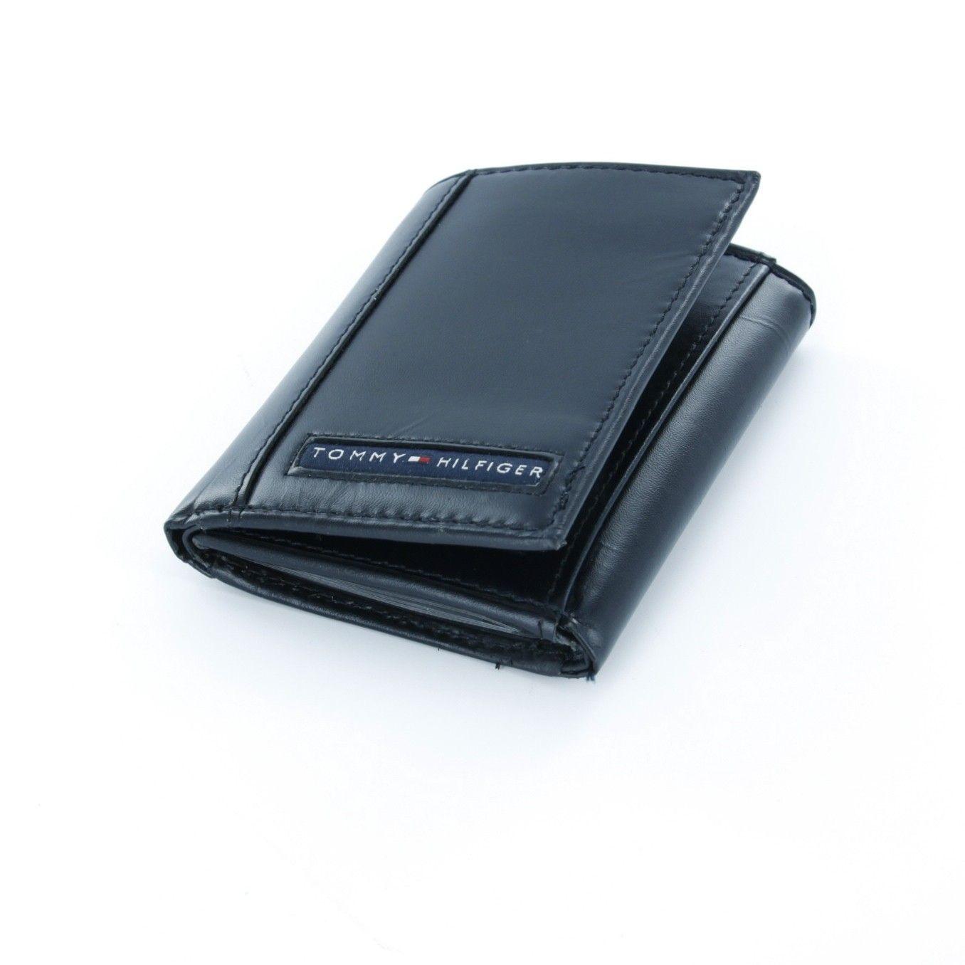 محافظ رجالية تومي هيلفيغر اصلية Leather Trifold Wallet Tommy Hilfiger Wallet Wallet