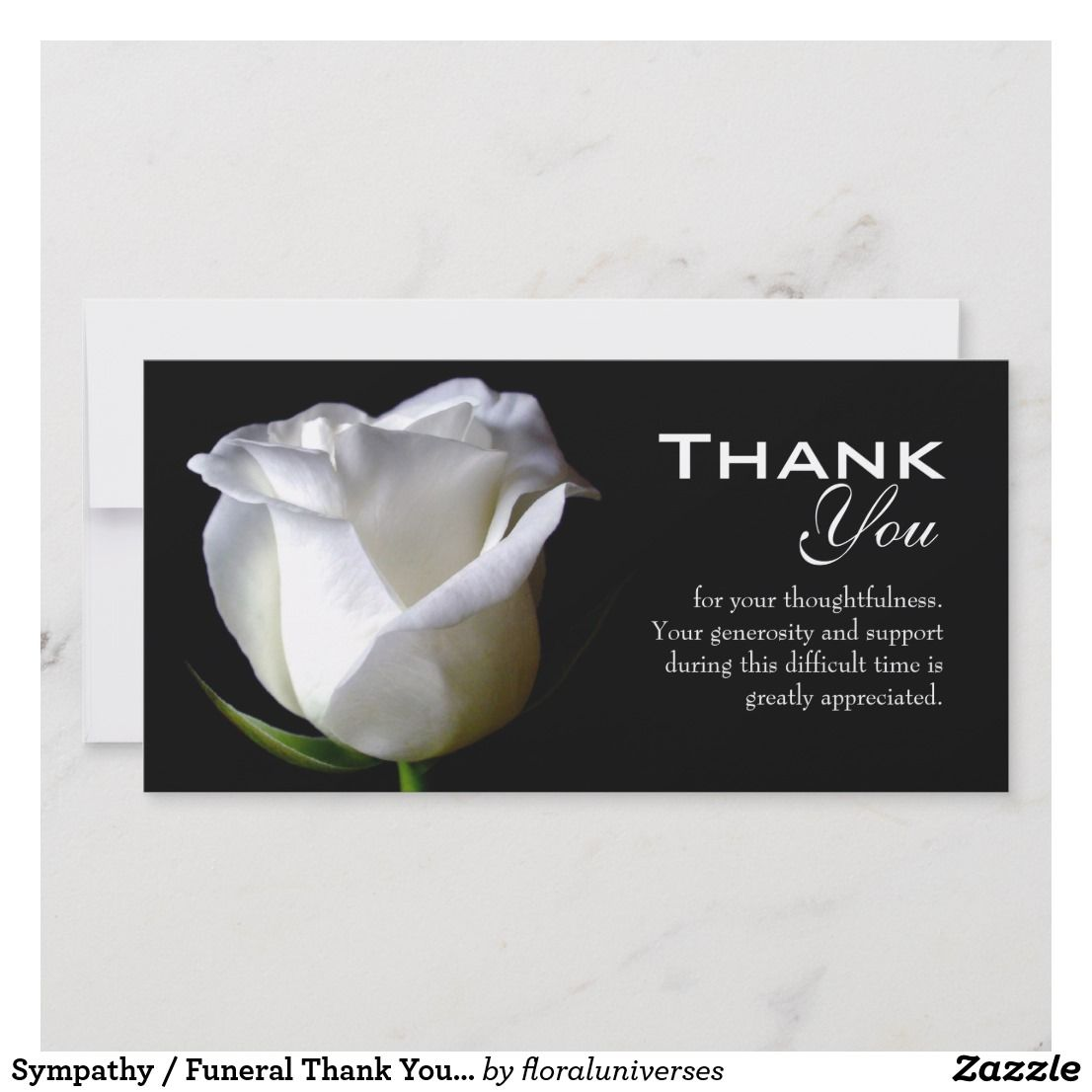 Sympathy Funeral Thank You Photo Card Thank You Cards