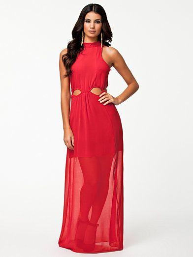 d085d7721144 Maxi Cut Out Dress - River Island - Red - Festklänningar - Kläder - Kvinna -