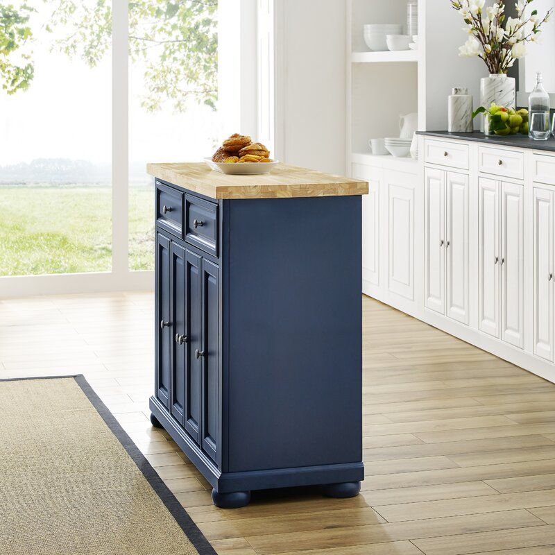 Bingaman Kitchen Island Solid Wood With Images Butcher Block