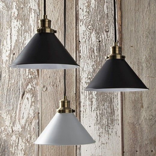 Brighten Up Any Room In Industrial Style With The Schoolhouse Cone Pendant From Threshold 153 Thi Ceiling Lights Ceiling Pendant Lights Small Pendant Lights