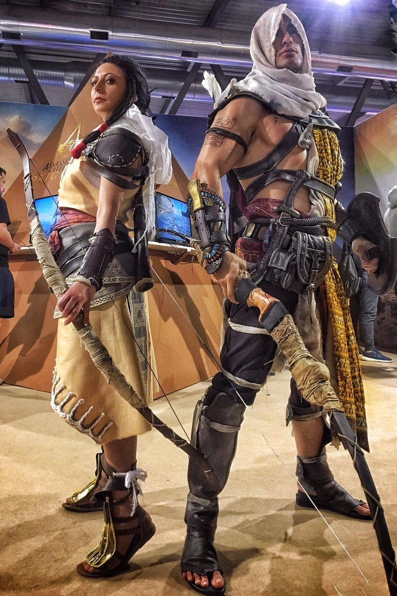 Bayek And Aya Cosplay From Assassin S Creed Origins Assassins