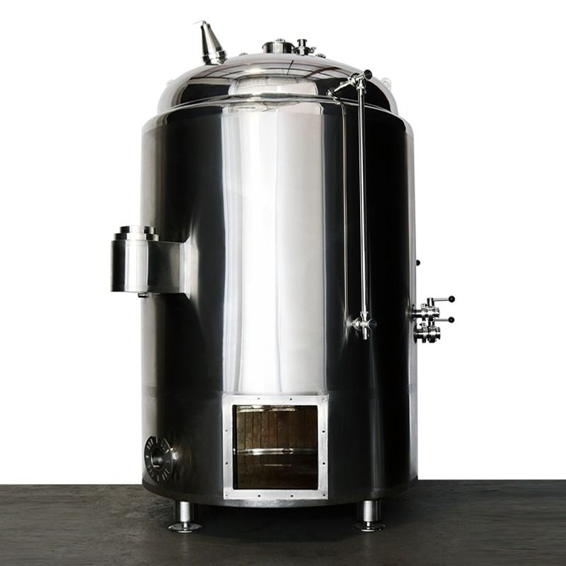 Have You Ever Seen The Inside Of An Indirect Fire Brew Kettle Well We Opened Up The Fire Box Of This Custom 7bbl So Th Brewing Equipment Stout Tanks Kettle