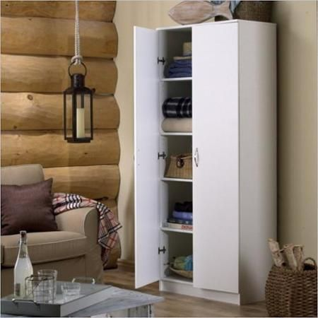 Homestar Storage Cabinet In White Laminate