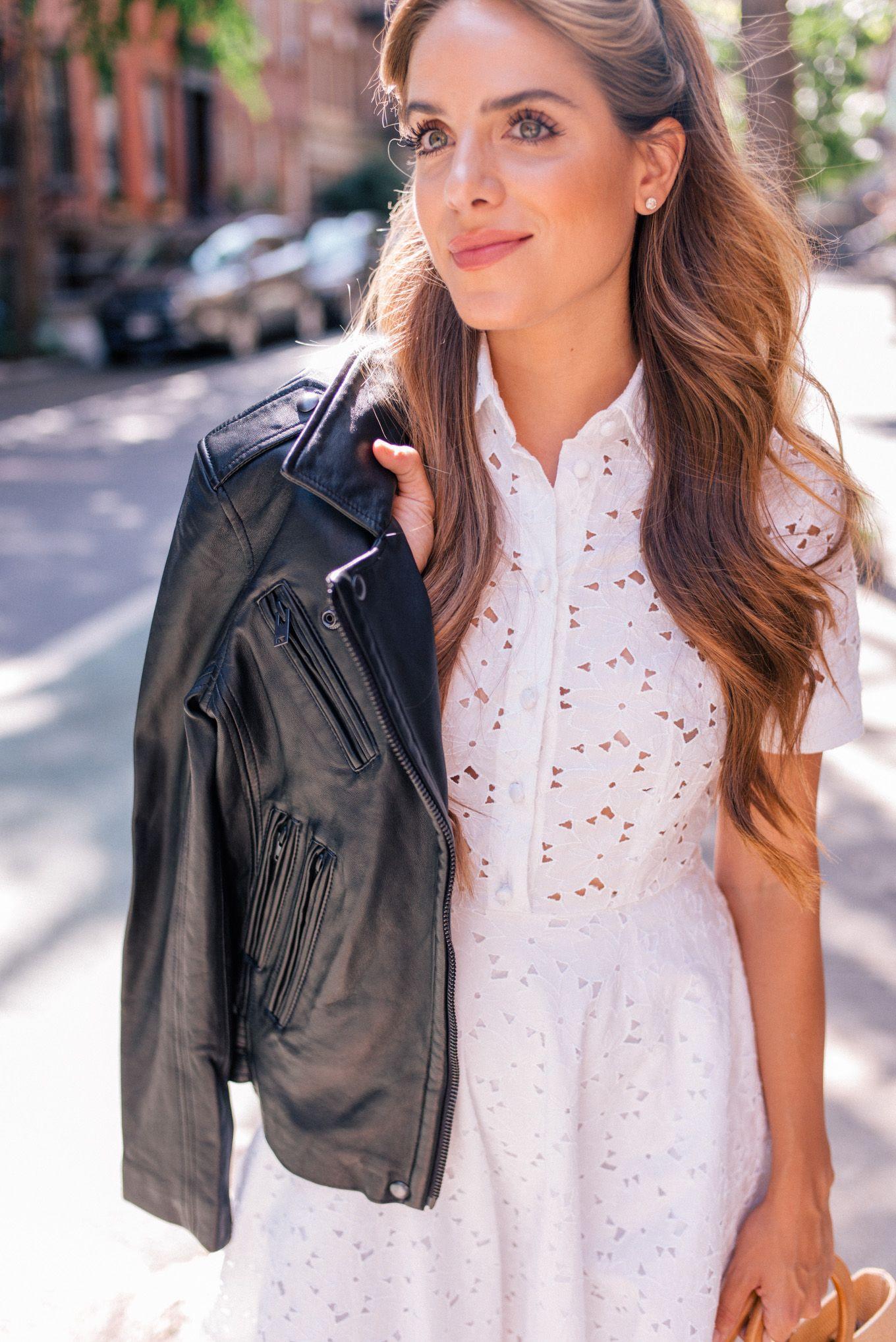 Wearing Summer Dresses Into Fall Julia Berolzheimer Summer Dresses Fashion Leather Jacket Dress [ 2036 x 1360 Pixel ]