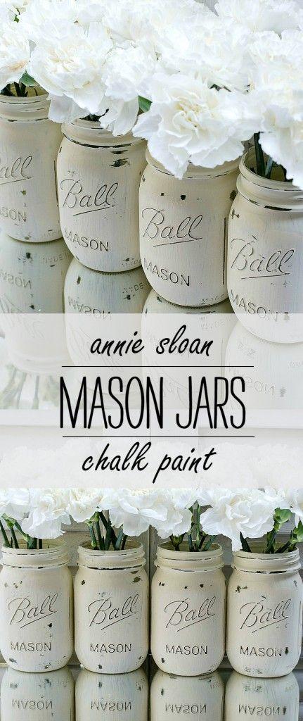 Painted Mason Jars | Bloggers' Best DIY Ideas | Painted