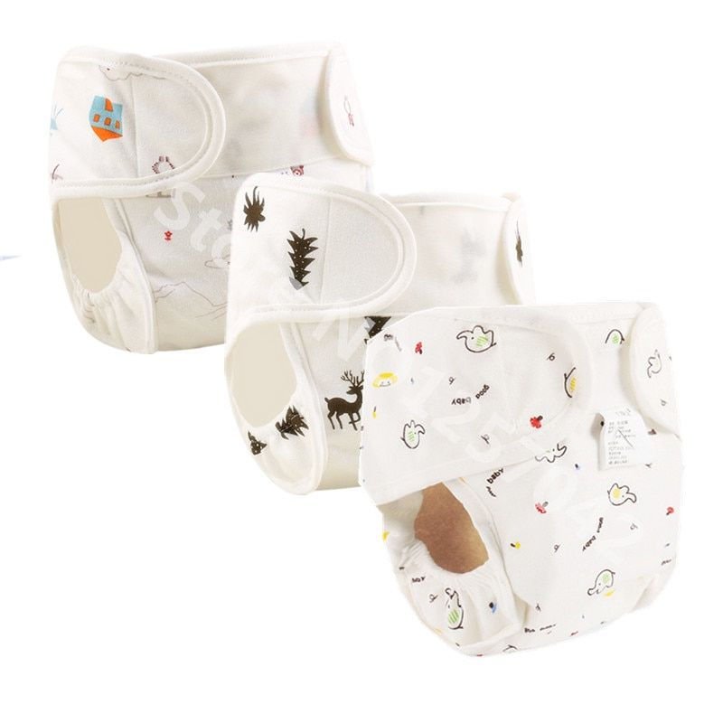 Baby Cloth Diapers Inserts Cotton Washable Baby Care LE