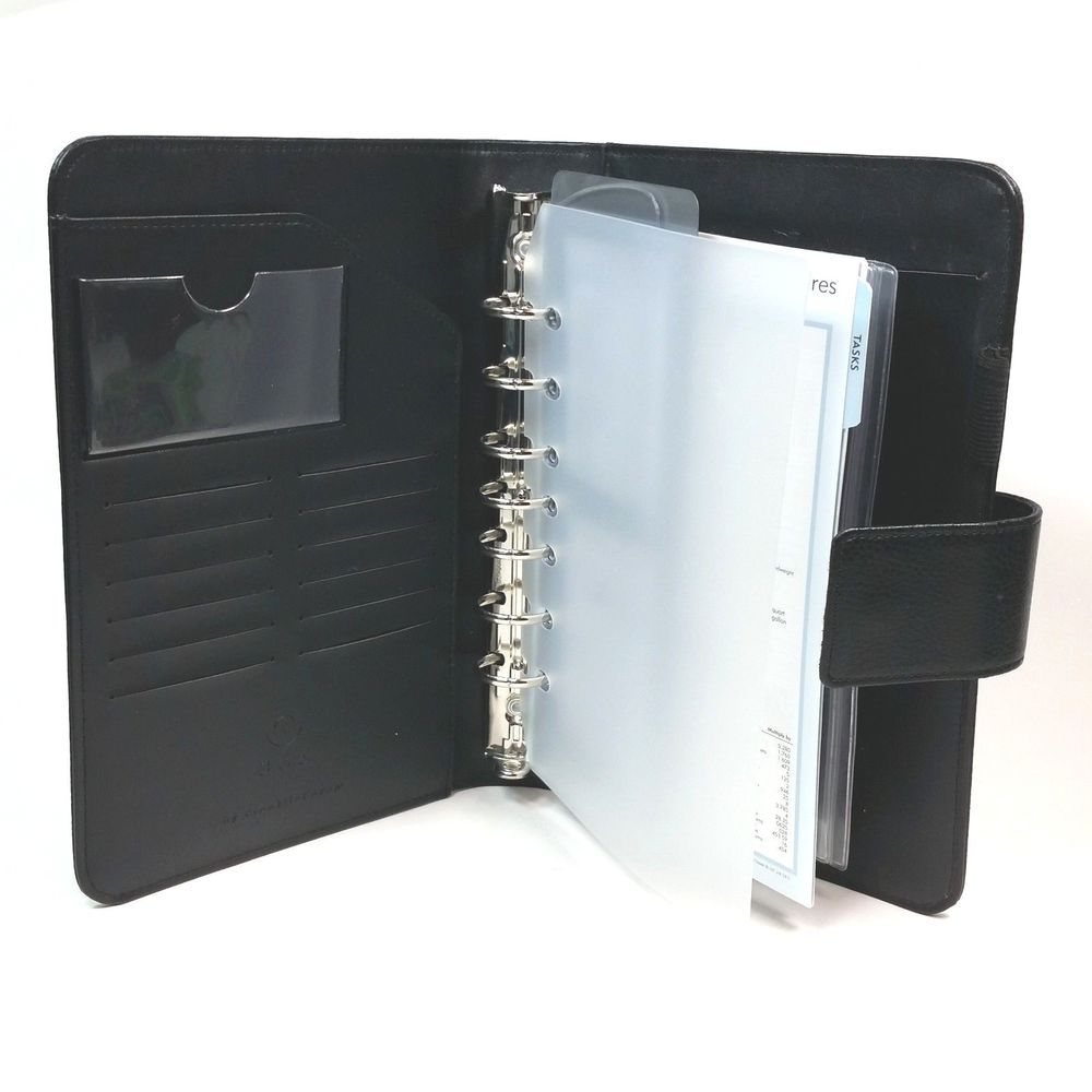 Franklin covey 365 classic black 7 ring binder organizer card franklin covey 365 classic black 7 ring binder organizer card holders task sheet franklincovey m4hsunfo