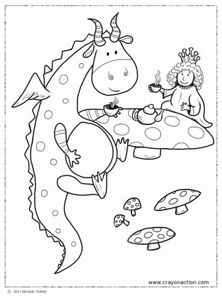 Dragon Party Main Jpg 324 432 Coloring Pages Dragon Tea Dragon Party
