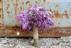Lilac baby's breath bouquet
