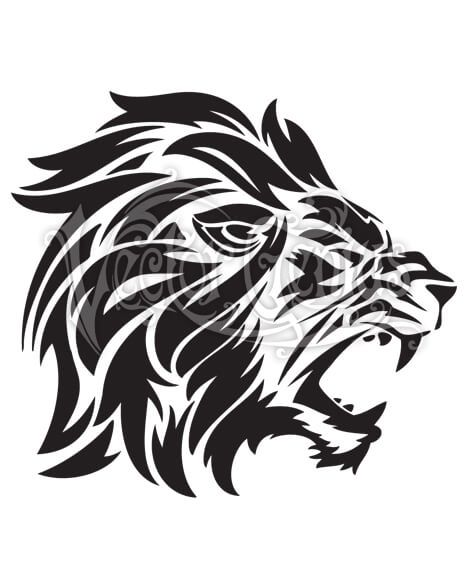 Roaring Lion Of Judah Stock Art Vector Genius In 2020 Roaring Lion Lion Silhouette Tribal Lion Tattoo