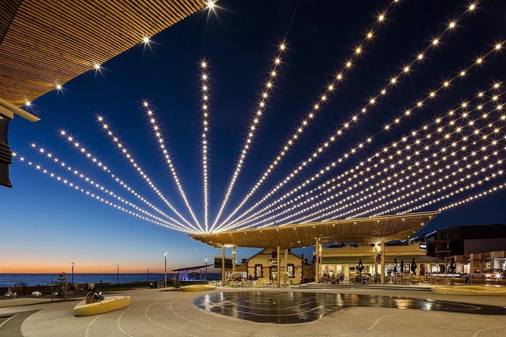 Henley Square, Catenary Lighting System, Adelaide | Tensile Design U0026  Construct