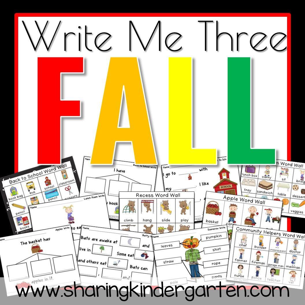Write Me Three Fall Pack With A Freebie