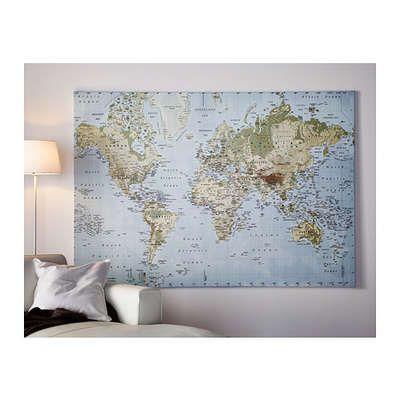 Quadro Cartina Mondo.Quadro Cartina Del Mondo Idee Ikea Idee Ikea