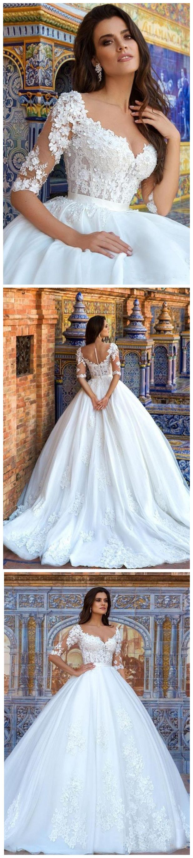 luxury vintage wedding dresses a line sweetheart long