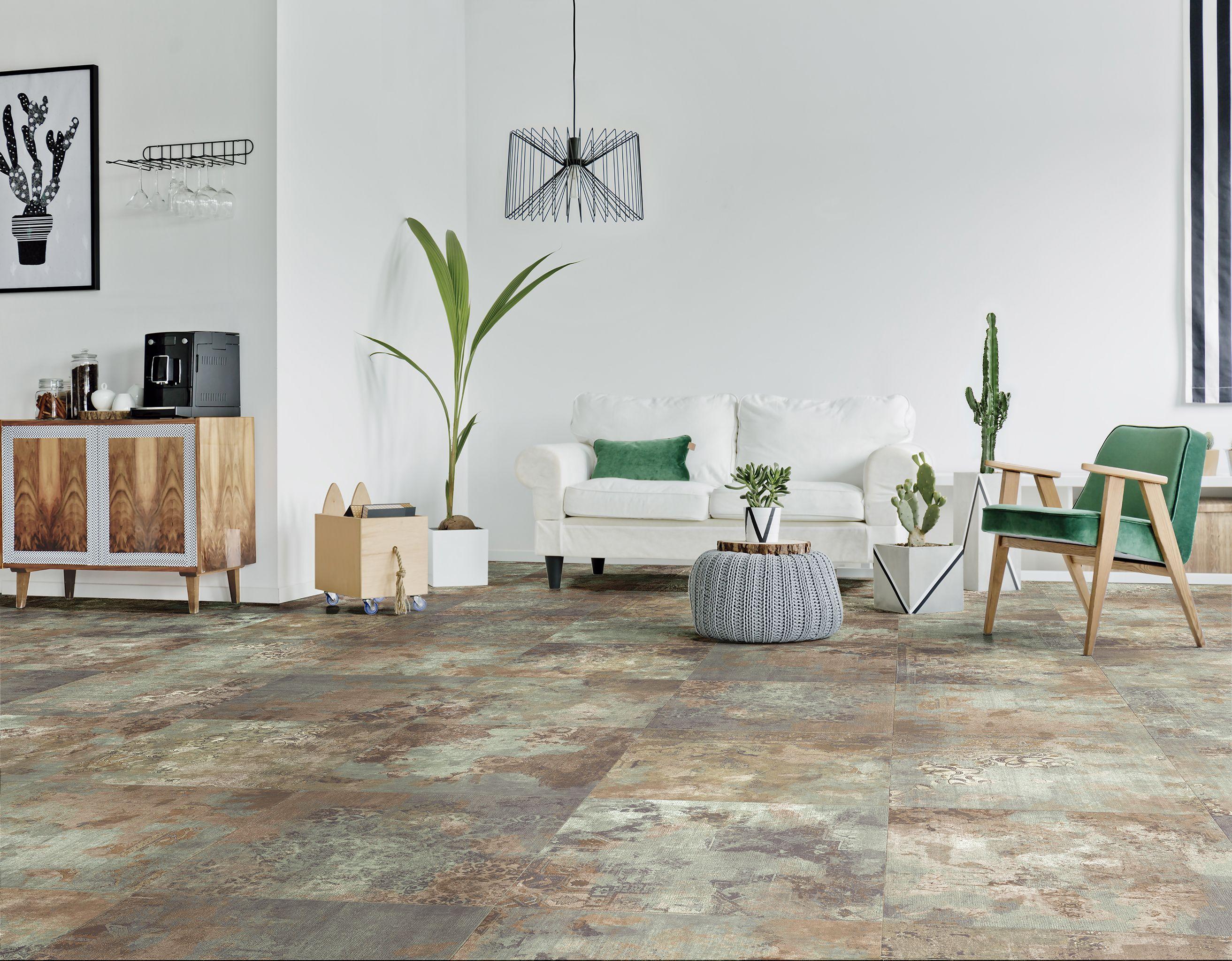 Habitat Ceramics Bagdad Verde Gris Y Beige 60cm X 60cm Southwestern Area Rugs Vinyl Flooring Trending Decor