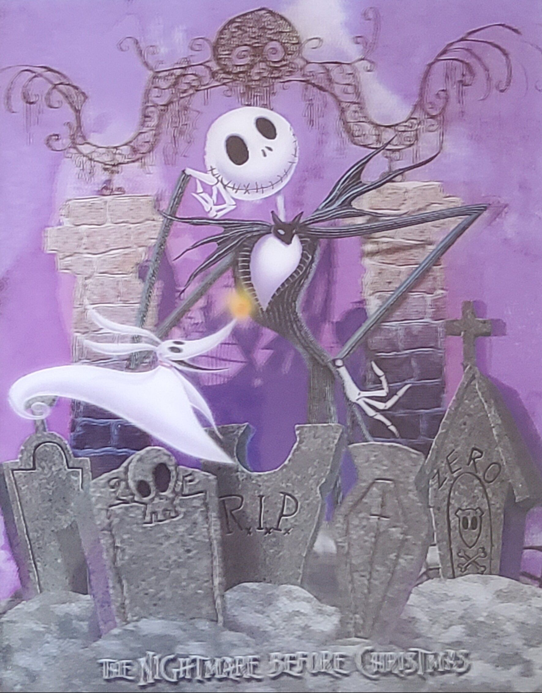 Nightmare Before Christmas 3d 2020 The Nightmare Before Christmas 3D Lenticular Poster — Shop Online