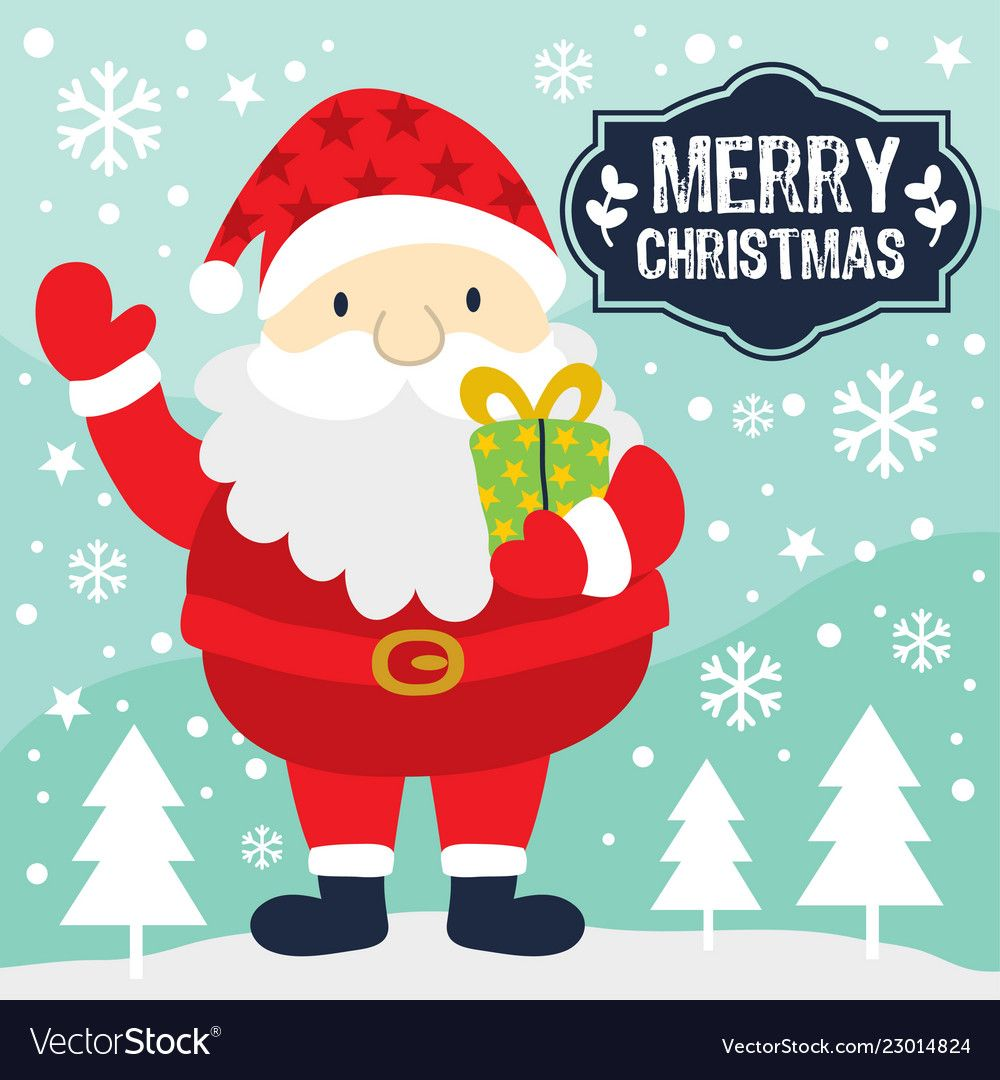 Santa claus vector image on Undangan