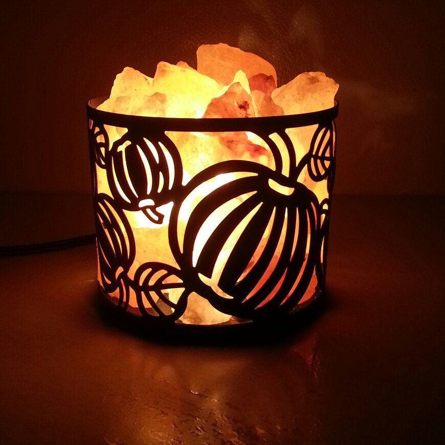 Yay Halloween And Fall Himalayan Salt Lamps Now Available For You Check Them Out In Our Shop Himalayan Salt Lamp Basket Salt Lamps Salt Lamp Benefits