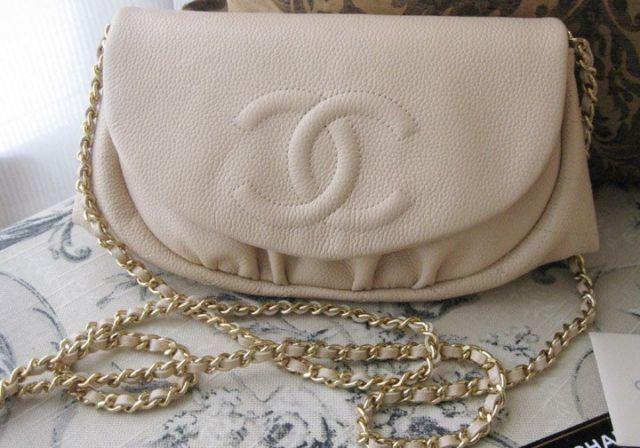2f913e313a22 Chanel Half Moon WOC, Caviar leather, light beige | pretty ...