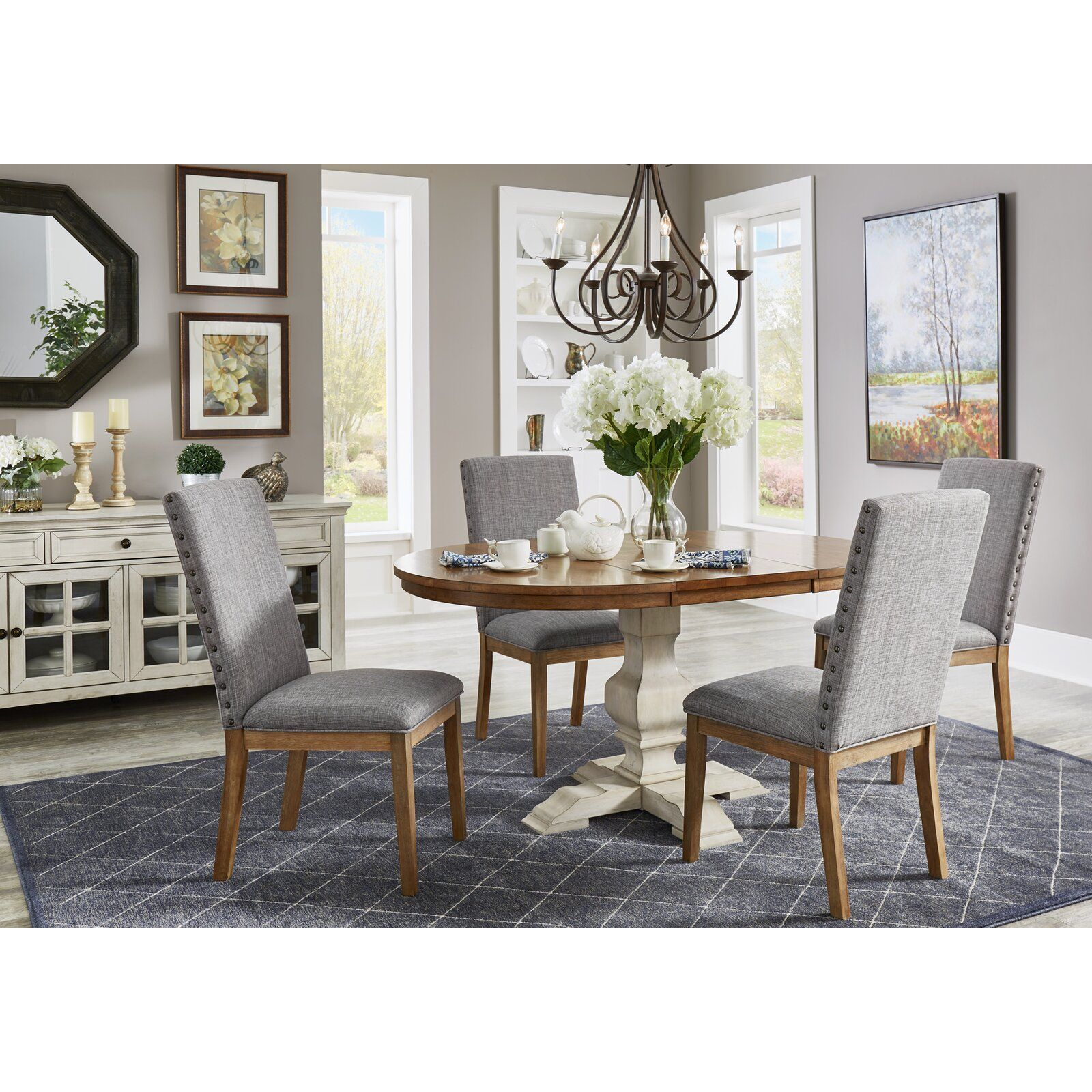 Fortville Extendable Solid Wood Dining Table Dining Table Wood