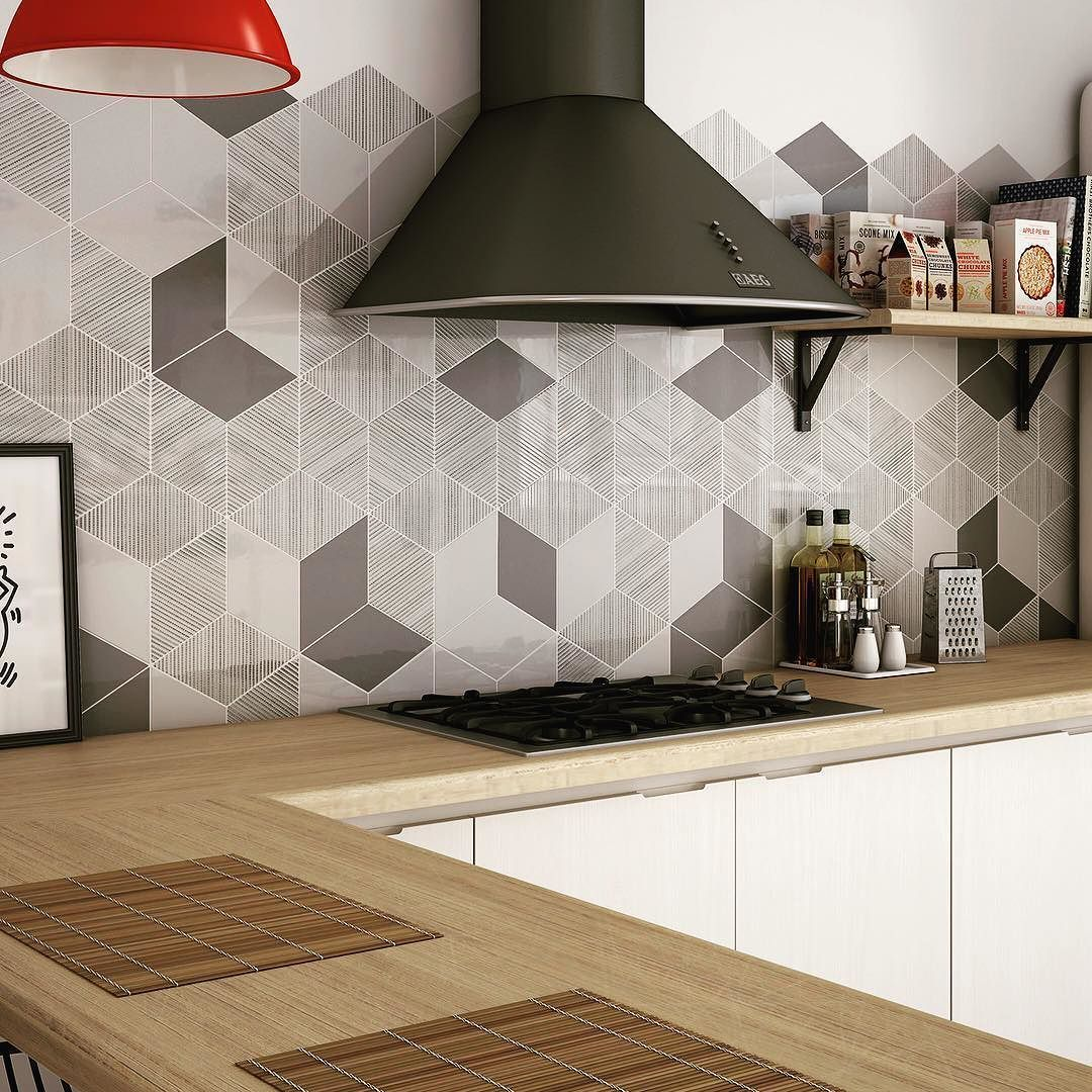 The rhombus collection onlyforthebold createtilestyle embrace your fun side with this creative geometrics dark grey smooth rhombus style floor tile dailygadgetfo Images
