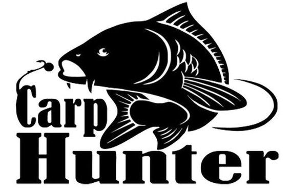 411f40060f49ca Carp Hunter Carp Fishing Vinyl Decal 14 colors 11 sizes to choose Sticker  Car Truck Phone Laptop Yet